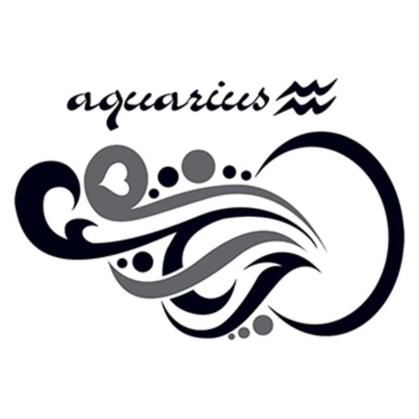 Zodiac: Aquarius Design Temporary Tattoo - Zodiac: Aquarius Design Temporary Tattoo