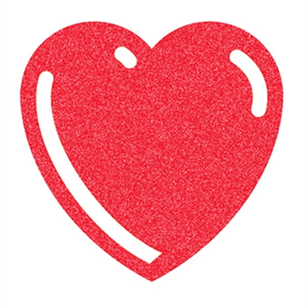Glitter Basic Red Heart Temporary Tattoo - Glitter Basic Red Heart Temporary Tattoo