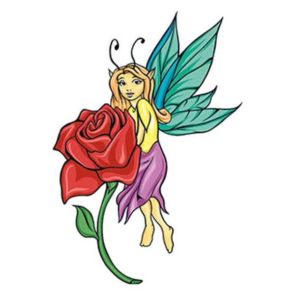 Mythical Yellow Fairy Temporary Tattoo - Mythical Yellow Fairy Temporary Tattoo