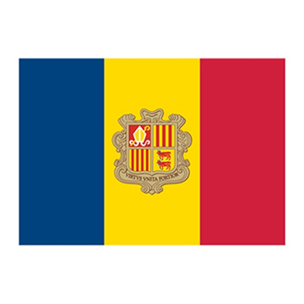 Flag of Andorra Temporary Tattoo - Flag of Andorra Temporary Tattoo