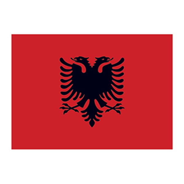 Flag of Albania Temporary Tattoo - Flag of Albania Temporary Tattoo