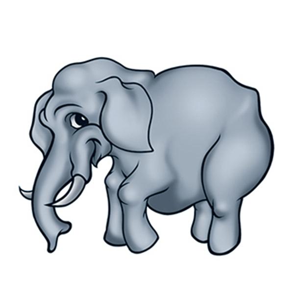 Gray Elephant Temporary Tattoo - Elephant Temporary Tattoo