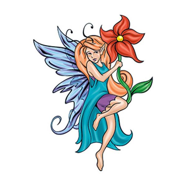 Mythical Teal Fairy Temporary Tattoo - Mythical Teal Fairy Temporary Tattoo