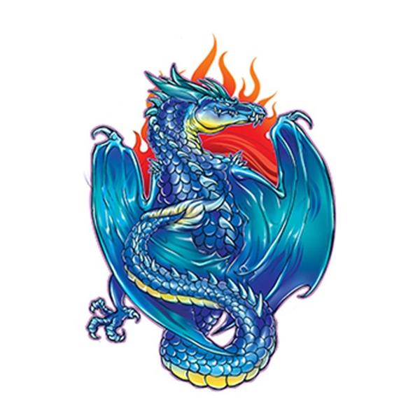 Mythical Blue Dragon Temporary Tattoo - Mythical Blue Dragon Temporary Tattoo