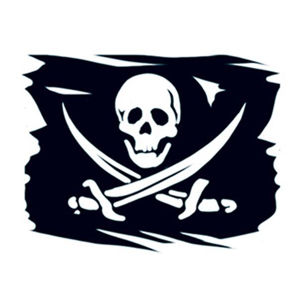 Pirate Flag Temporary Tattoo - Pirate Flag Temporary Tattoo