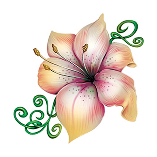 Lily Temporary Tattoo - Easter Flower Temporary Tattoo