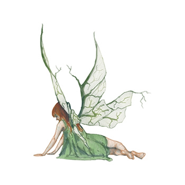 Mythical Green Fairy Nymph Temporary Tattoo - Mythical Green Fairy Nymph Temporary Tattoo