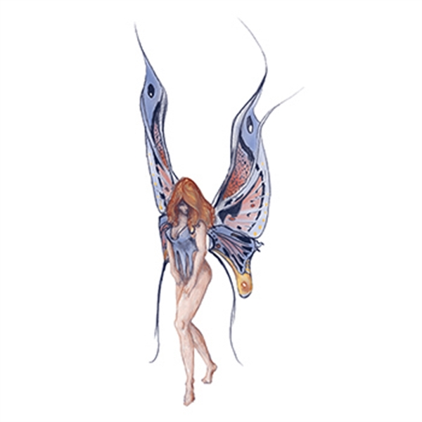 Mythical Blue Fairy Nymph Temporary Tattoo - Mythical Blue Fairy Nymph Temporary Tattoo