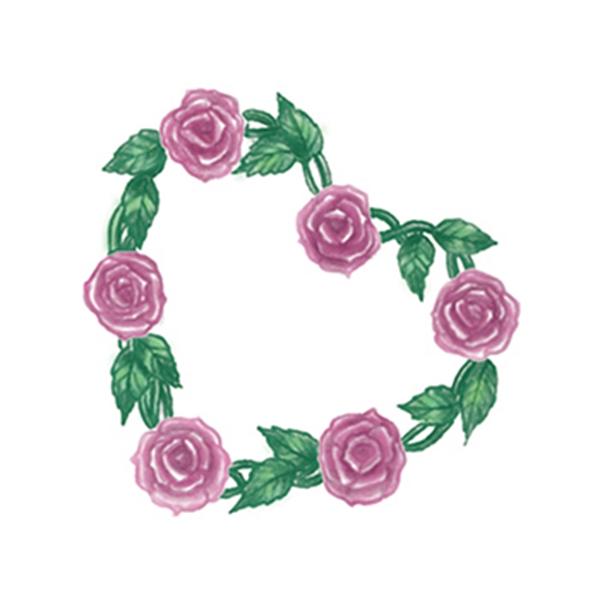 Rose Heart Temporary Tattoo - Rose Heart Temporary Tattoo