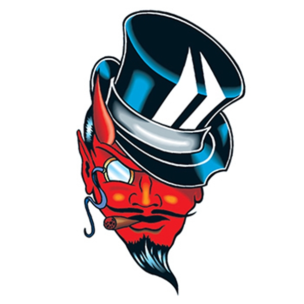 Devil with Top Hat Temporary Tattoo - Devil with Top Hat Temporary Tattoo