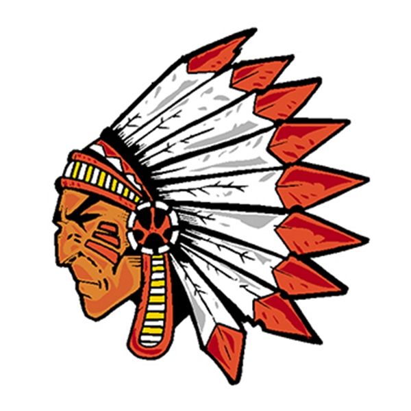 Indian Warrior Temporary Tattoo