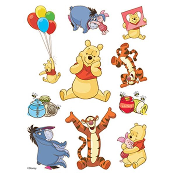 Winnie the Pooh Assortment of Temporary Tattoos - Winnie the Pooh Assortment of Temporary Tattoos