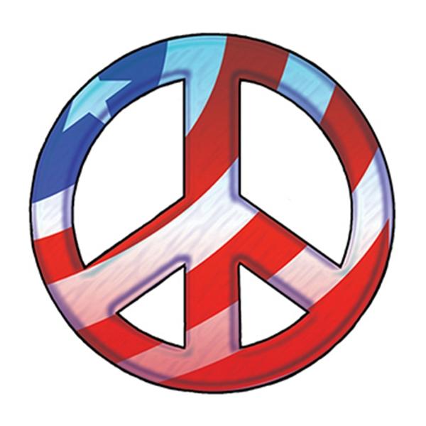 Patriotic Peace Symbol Temporary Tattoo