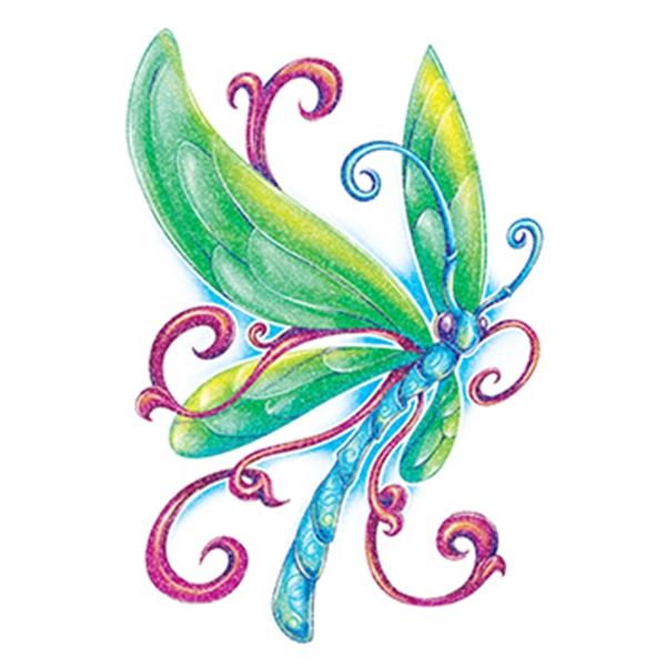 Glitter Blue Butterfly Temporary Tattoo