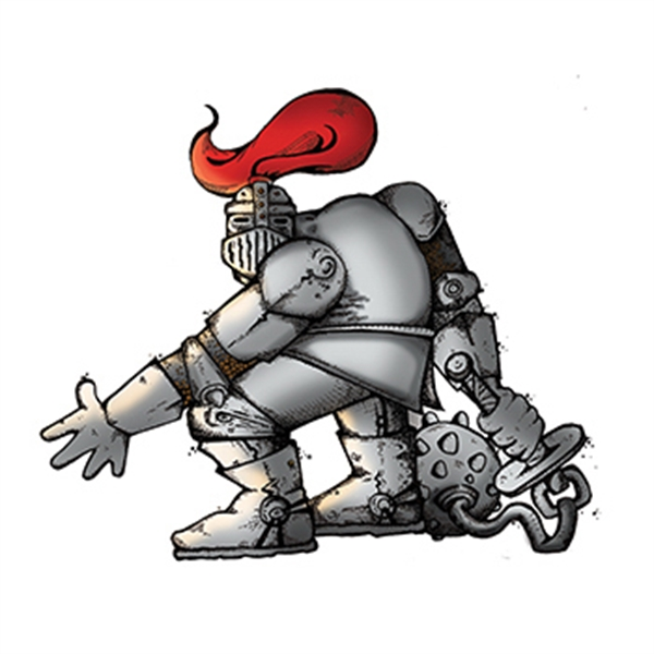 Knight with Mace Temporary Tattoo - Knight with Mace Temporary Tattoo