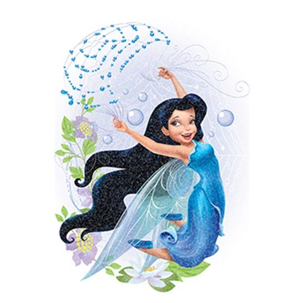 Glitter Disney Silver Mist Fairy Temporary Tattoo - Glitter Disney Silver Mist Fairy Temporary Tattoo