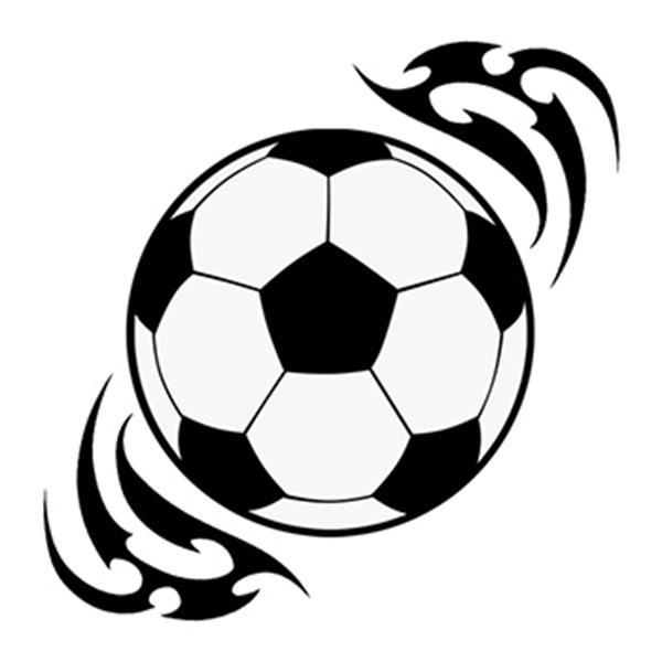 Tribal Soccer Ball Temporary Tattoo - Tribal Soccer Ball Temporary Tattoo