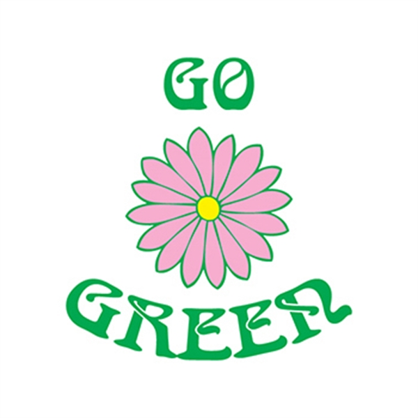 Go Green Flower Temporary Tattoo - Go Green Flower Temporary Tattoo