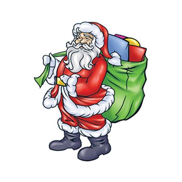 Santa with Bag Temporary Tattoo - Santa with Bag Temporary Tattoo