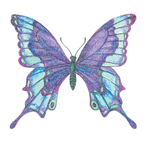 Glitter Shades of Blue Butterfly Temporary Tattoo - Glitter Shades of Blue Butterfly Temporary Tattoo