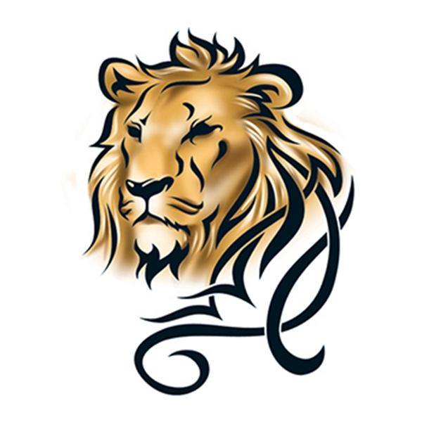 Lion Head Temporary Tattoo - Lion Head Temporary Tattoo