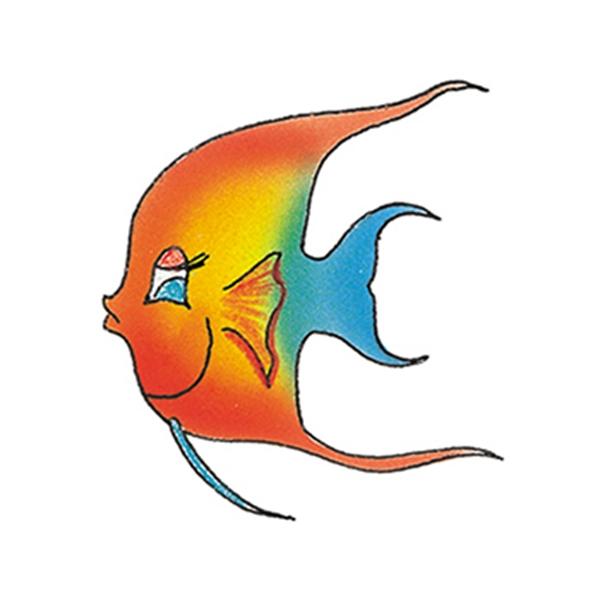 Color Fish Temporary Tattoo - Color Fish Temporary Tattoo