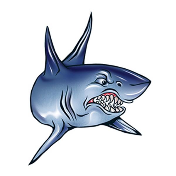 Angry Shark Temporary Tattoo