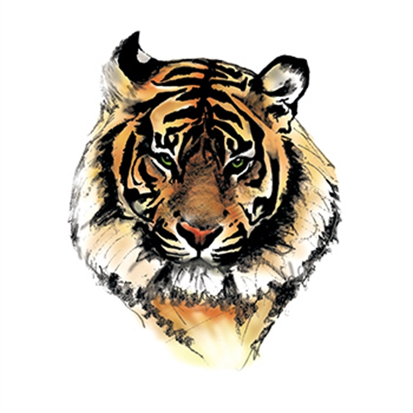 Tiger Temporary Tattoo - Tiger Temporary Tattoo