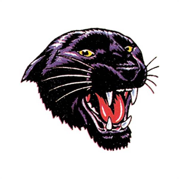 Snarling Panther Temporary Tattoo