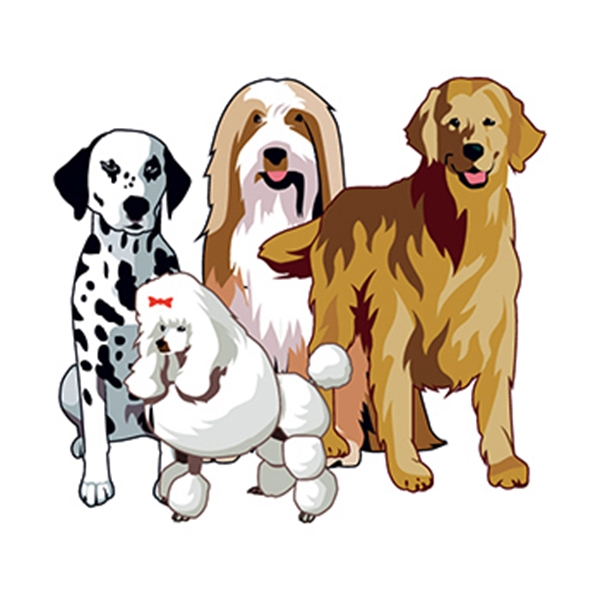 Group of Dogs Temporary Tattoo