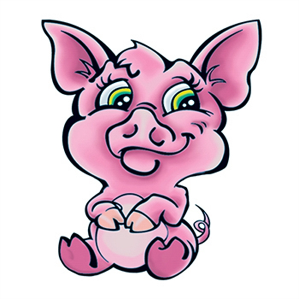 Cute Pig Temporary Tattoo - Cute Pig Temporary Tattoo