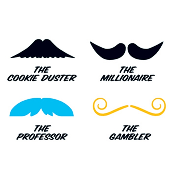 Fingerstaches: The Cookie Duster Temporary Tattoo Set - Fingerstaches: The Cookie Duster Temporary Tattoo Set
