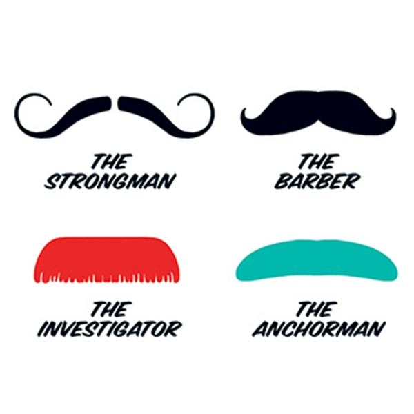 Fingerstaches: The Strongman Temporary Tattoo Set - Fingerstaches: The Strongman Temporary Tattoo Set