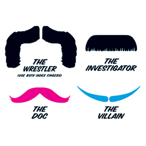 Fingerstaches: The Wrestler Temporary Tattoo Set - Fingerstaches: The Wrestler Temporary Tattoo Set