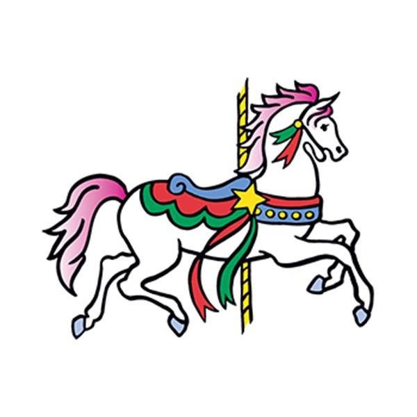Carousel Horse Temporary Tattoo - Carousel Horse Temporary Tattoo