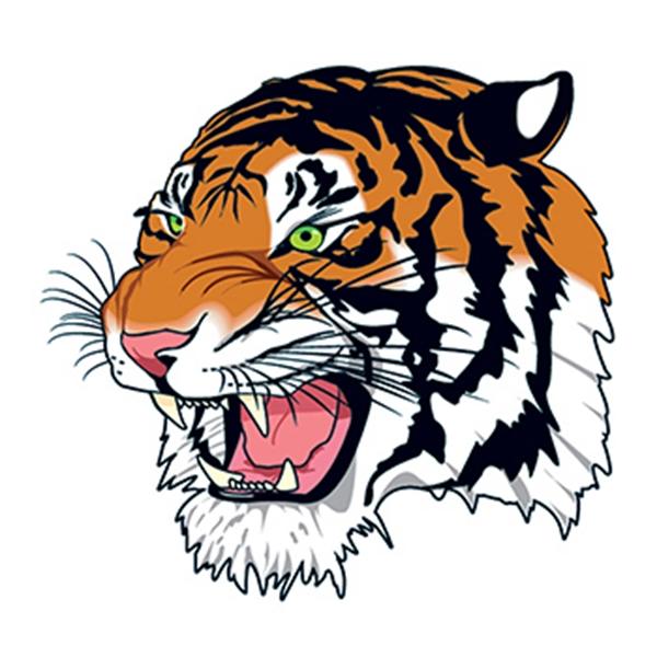 Tiger Head Temporary Tattoo - Tiger Head Temporary Tattoo