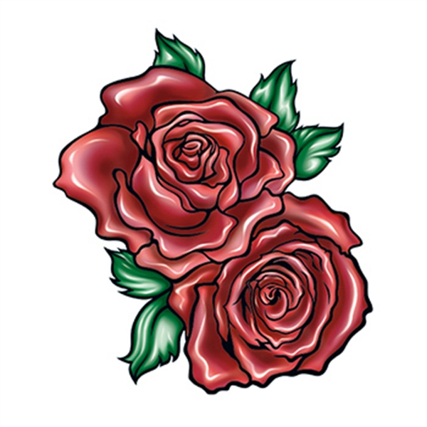 Two Red Roses Temporary Tattoo - Two Red Roses Temporary Tattoo