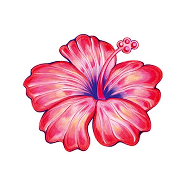 Hibiscus Temporary Tattoo
