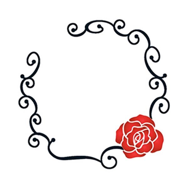Tribal Rose Ring Temporary Tattoo - Tribal Rose Ring Temporary Tattoo
