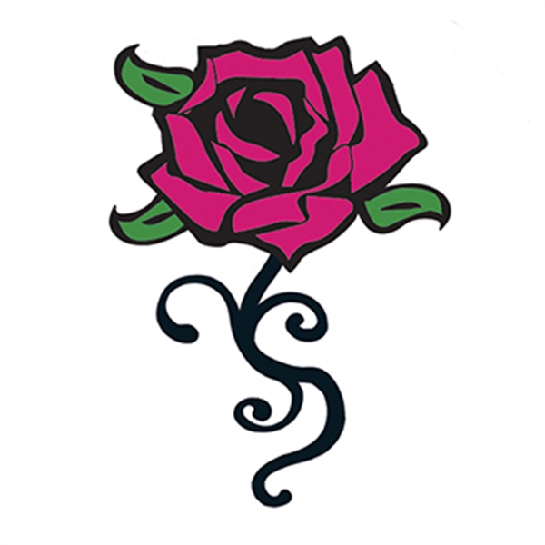 Graphic Rose Temporary Tattoo - Graphic Rose Temporary Tattoo