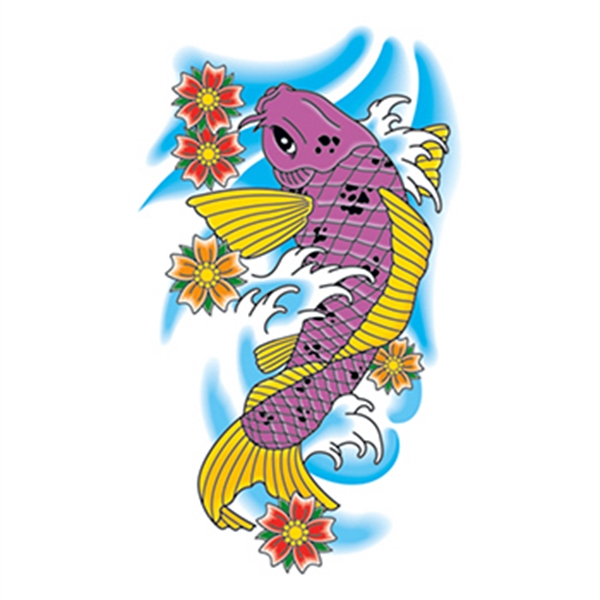Traditional Koi Fish Temporary Tattoo - Traditional Koi Fish Temporary Tattoo