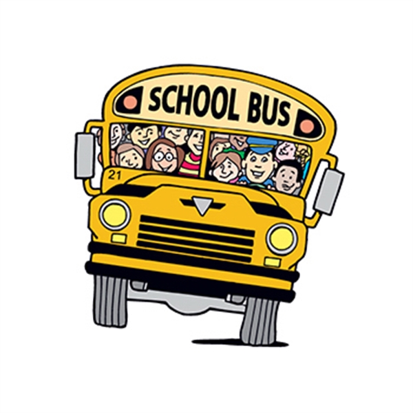School Bus with Kids Temporary Tattoo - Full School Bus Temporary Tattoo