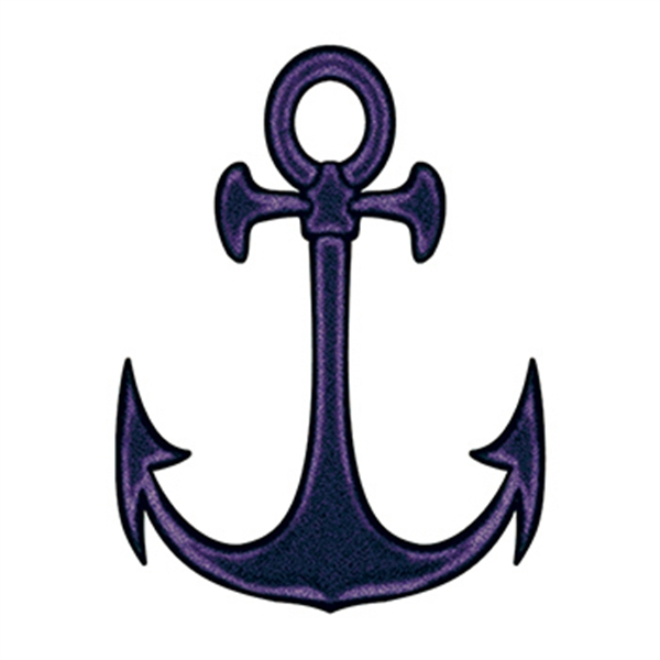 Black Anchor Temporary Tattoo
