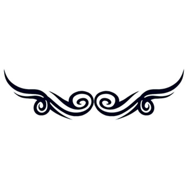 Tribal Symmetry Temporary Tattoo - Tribal Symmetry Temporary Tattoo