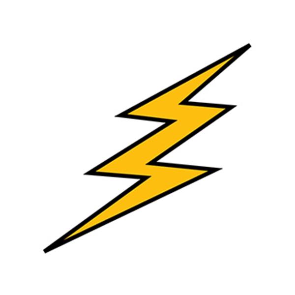Golden Lightning Temporary Tattoo - Golden Lightning Temporary Tattoo