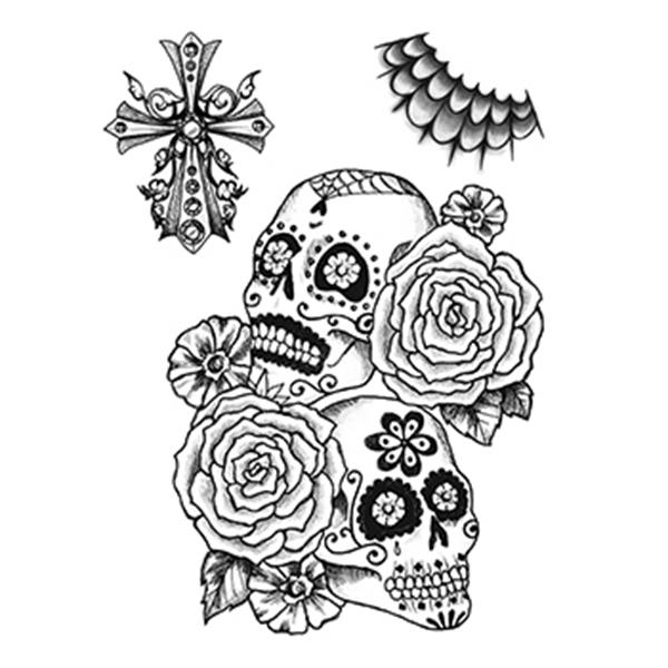 Calaveras Sugar Skull Temporary Tattoo Set - Calaveras Sugar Skull Temporary Tattoo Set