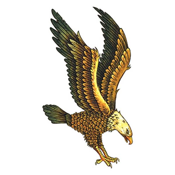 Majestic Eagle Temporary Tattoo