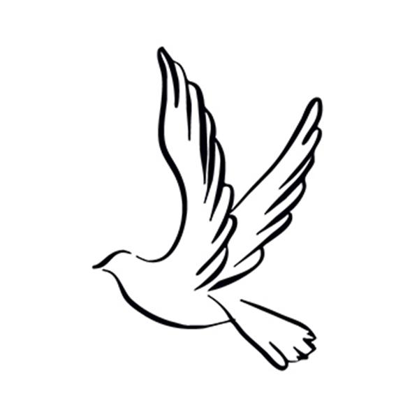 Dove Temporary Tattoo - Dove Temporary Tattoo