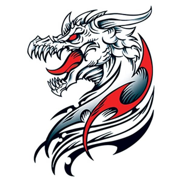 Dracul Dragon Large Temporary Tattoo - Dracul Dragon Large Temporary Tattoo