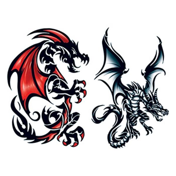 Leviathan Dragons Temporary Tattoo Set - Leviathan Dragons Temporary Tattoo Set
